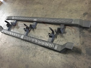 2009 2010 Hummer H3T Running Boards Nerf Step Rails New OEM 19166293 Smoke Grey